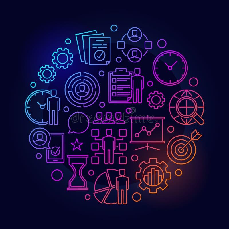 项目管理例证 库存例证