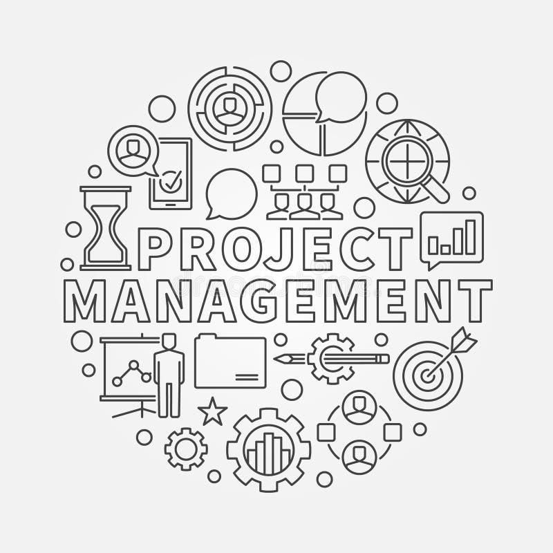 项目管理圆的例证 向量例证