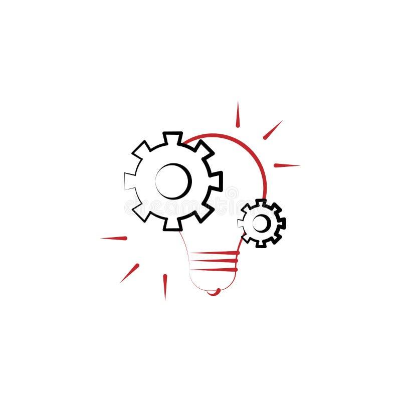 项目管理想法2种族分界线象 简单的色素例证 项目管理想法概述标志 向量例证