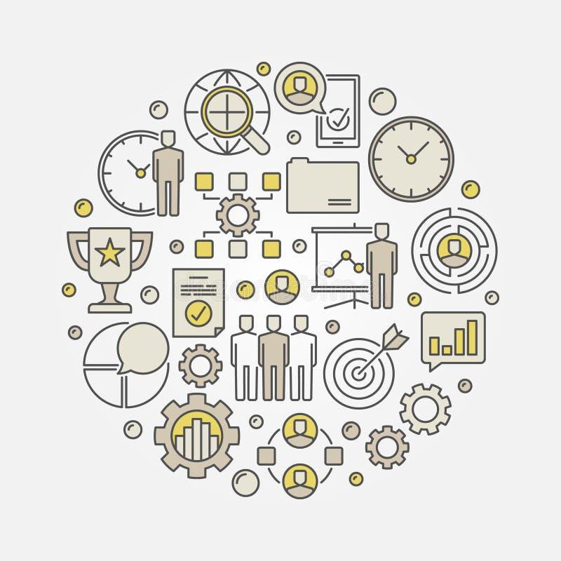 项目管理概念例证 向量例证