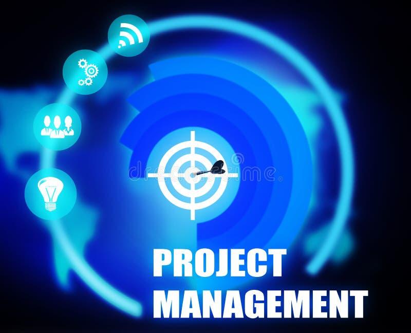 项目管理概想计划图表 向量例证