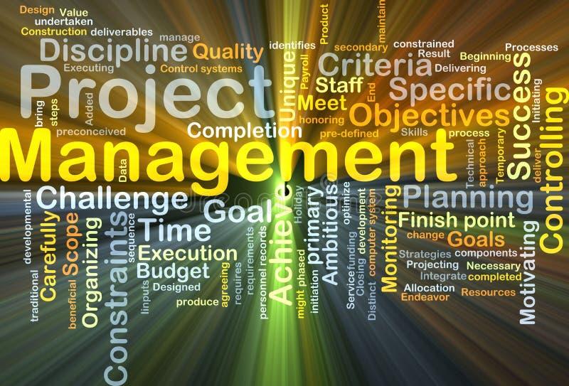 项目管理背景概念发光 向量例证