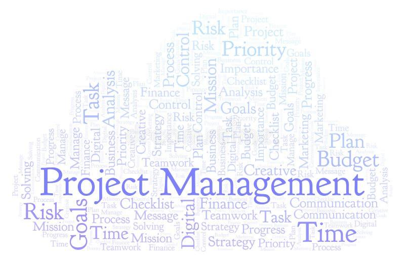 项目管理词云彩,做用仅文本 库存例证