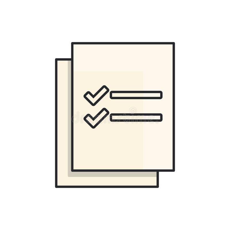 项目管理,线艺术 库存例证