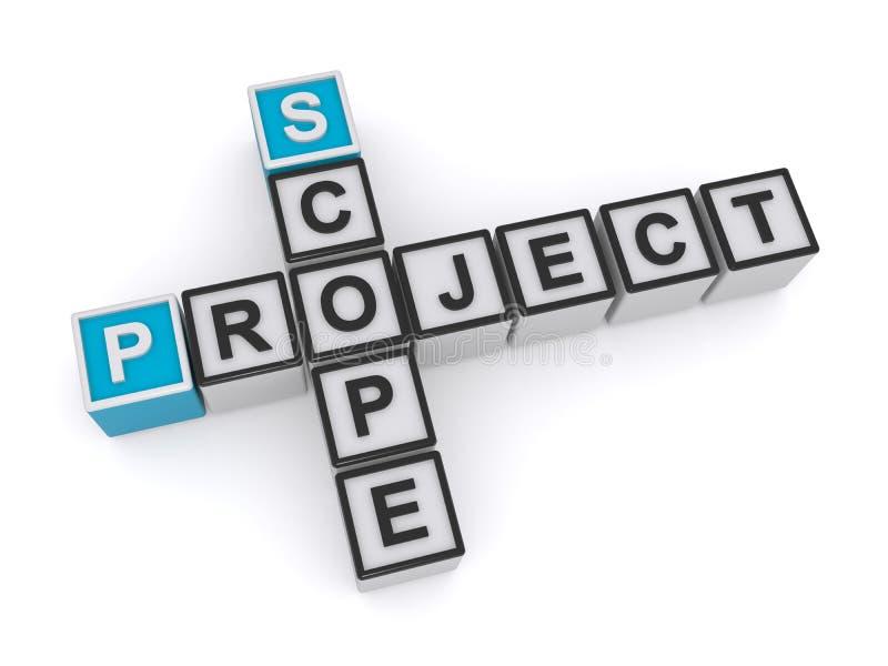 项目范围 皇族释放例证