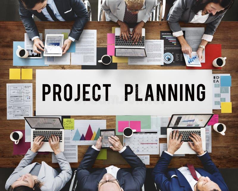 项目计划估计展望预言任务概念 免版税库存图片