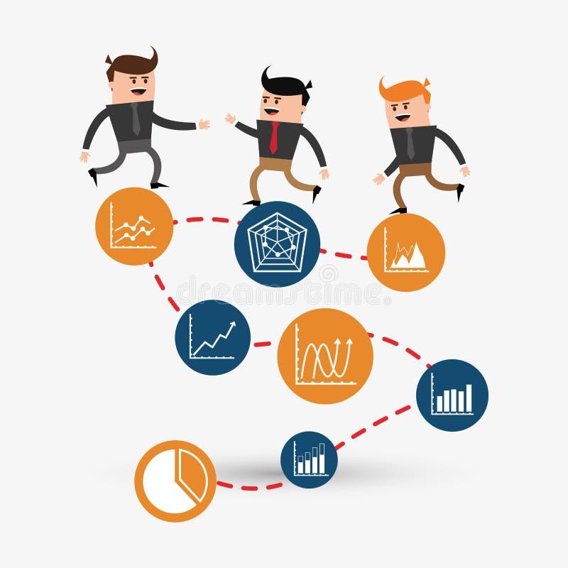 项目设计 商人象 infographic概念 皇族释放例证