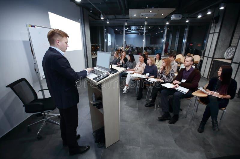 项目负责人举办高级职员会议  图库摄影