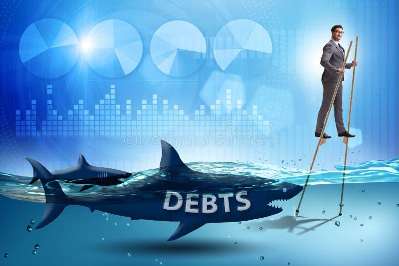 顺利地应付贷款和债务的商人 库存图片