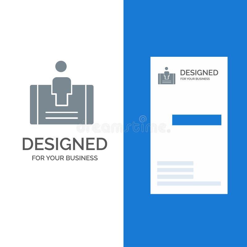 顾客、订婚、机动性、社会灰色商标设计和名片模板 皇族释放例证