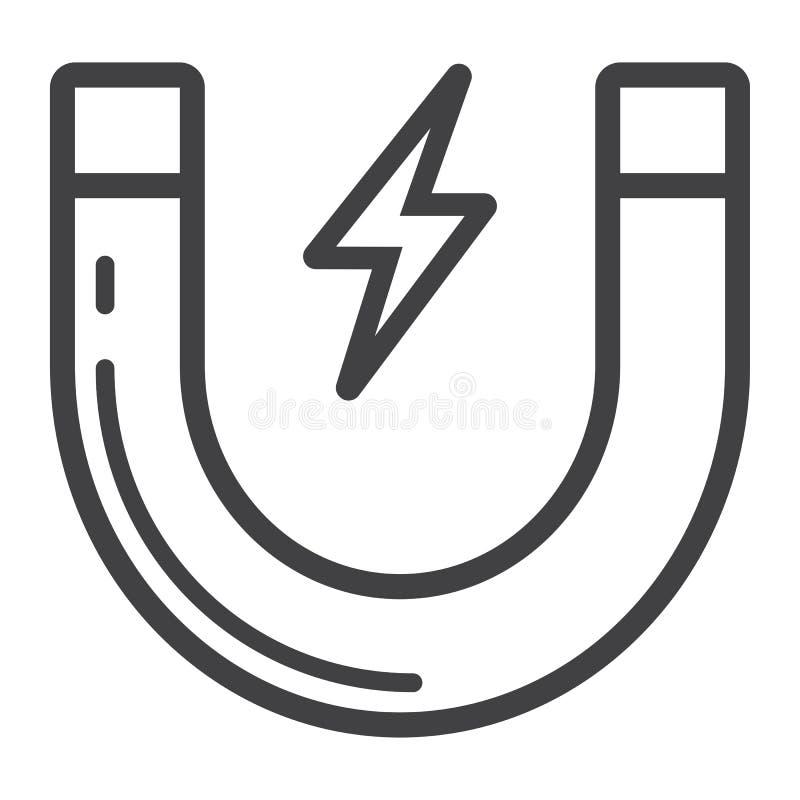 顾客吸引力线象、事务和磁铁 向量例证