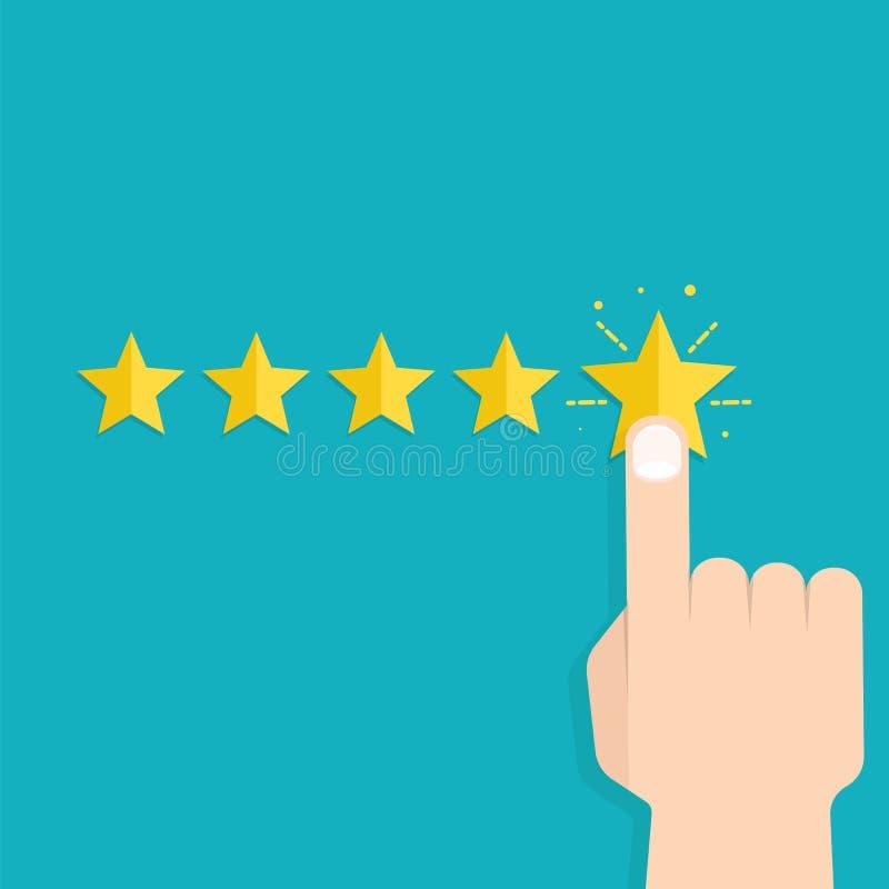 顾客回顾概念 实用性评估 向量例证
