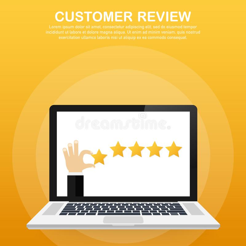 顾客回顾,实用性评估,反馈,评估系统等量概念 也corel凹道例证向量 库存例证