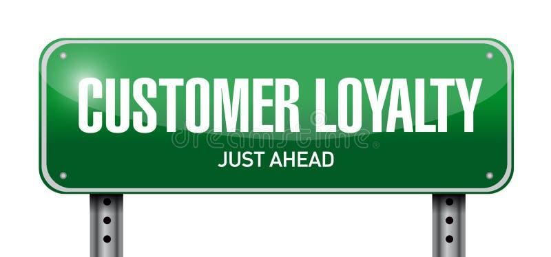 顾客忠诚岗位标志概念 库存例证
