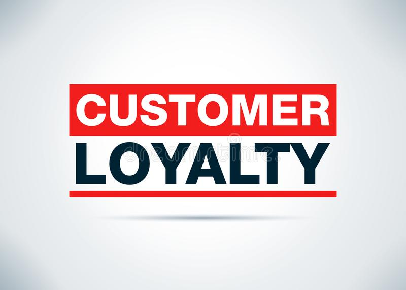 顾客忠诚摘要平的背景设计例证 向量例证
