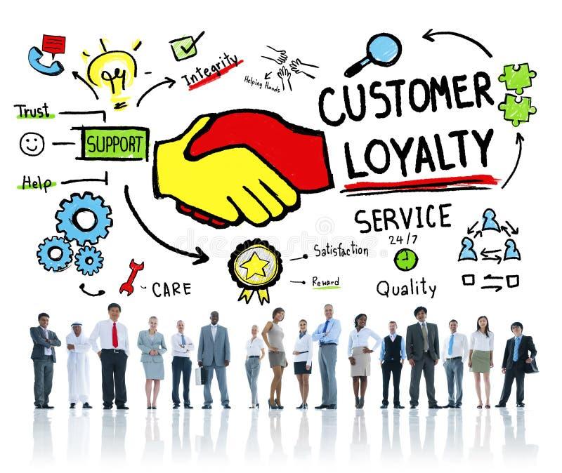 顾客忠诚服务支持关心信托业务概念 库存例证