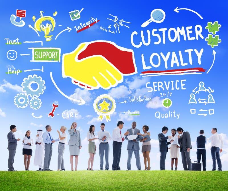 顾客忠诚服务支持关心信托业务概念 库存图片