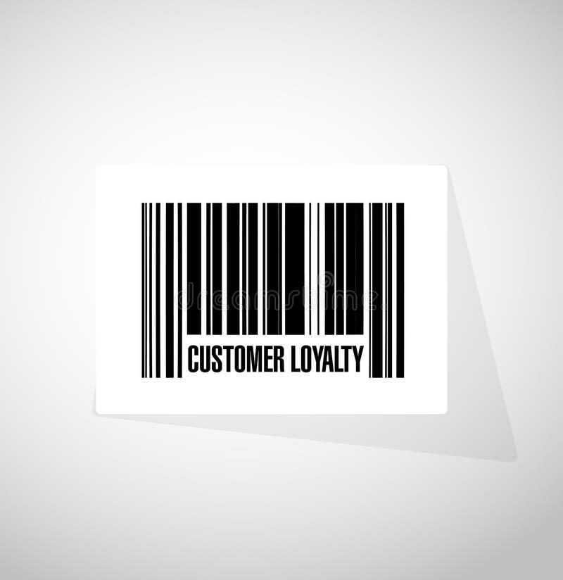 顾客忠诚条形码标志概念 库存例证