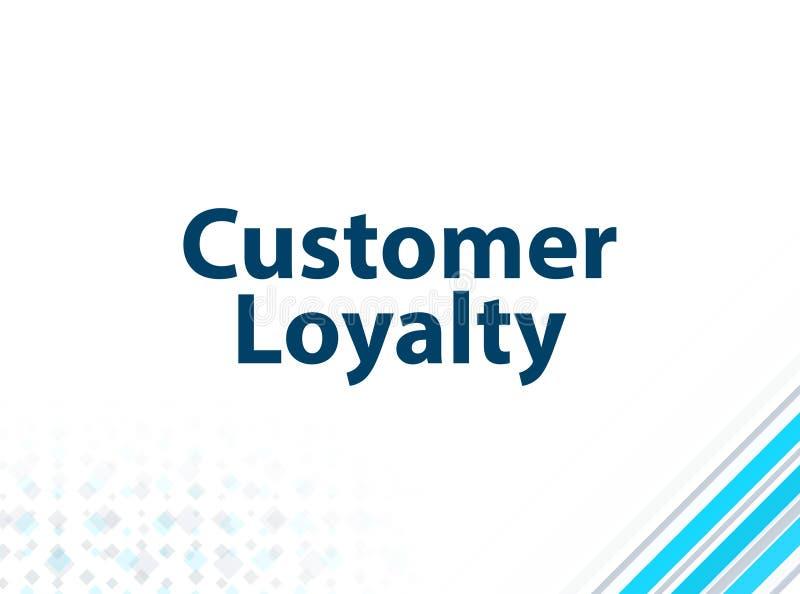顾客忠诚现代平的设计蓝色抽象背景 库存例证