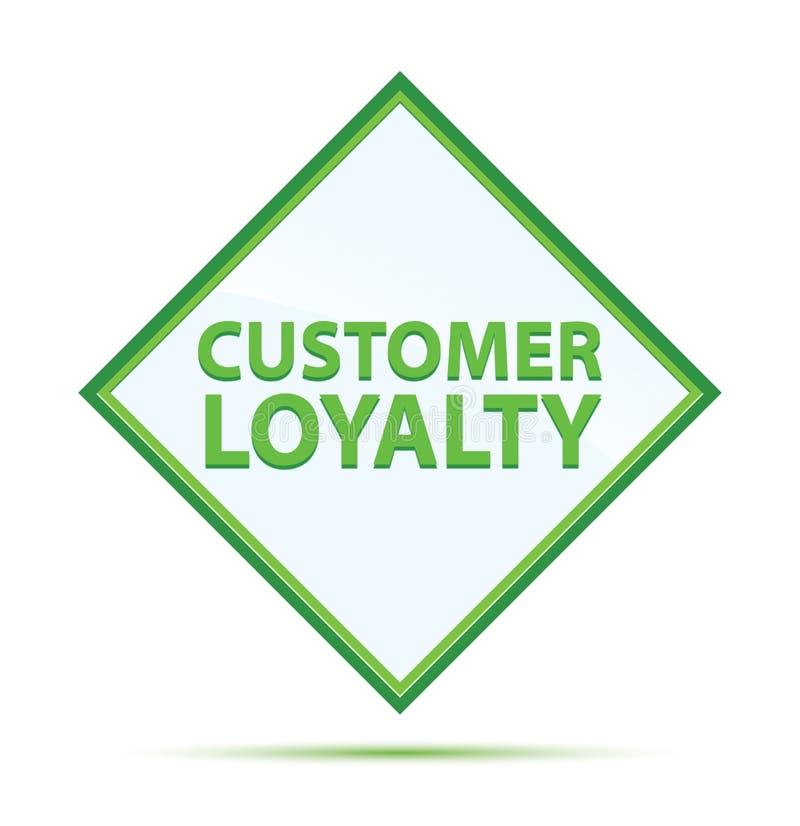 顾客忠诚现代抽象绿色金刚石按钮 皇族释放例证