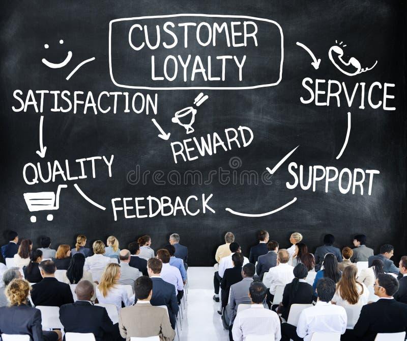 顾客忠诚满意支持战略概念 免版税库存图片