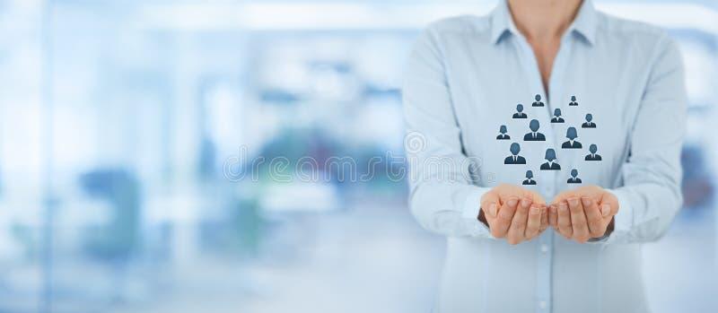 顾客或雇员关心概念 库存照片