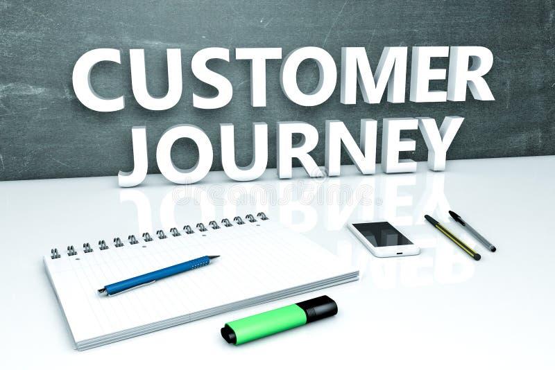 顾客旅途文本概念 库存例证