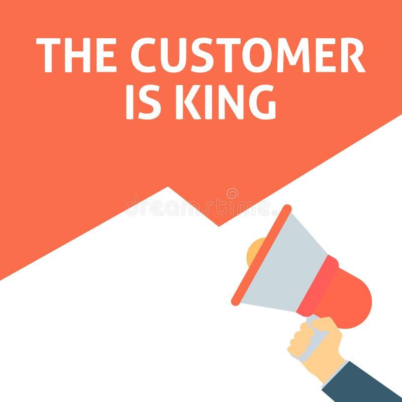 顾客是公告国王 拿着有讲话泡影的手扩音机 皇族释放例证