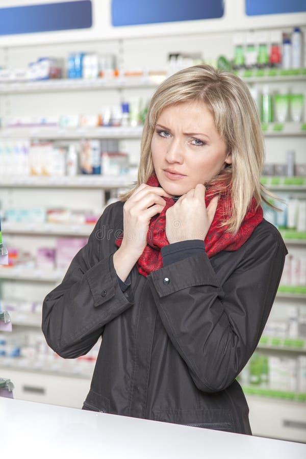 顾客有流感 免版税图库摄影