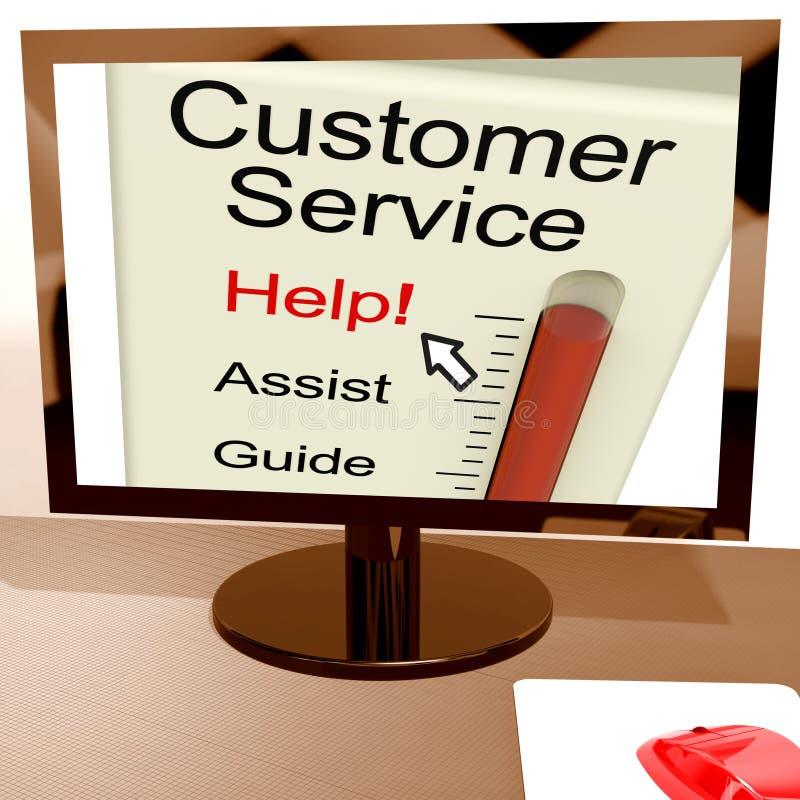 顾客服务帮助米在网上显示协助和支持 皇族释放例证