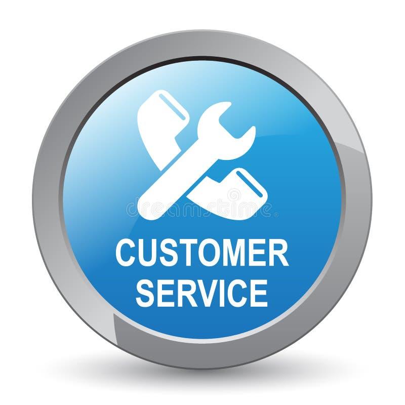 顾客服务按钮 皇族释放例证