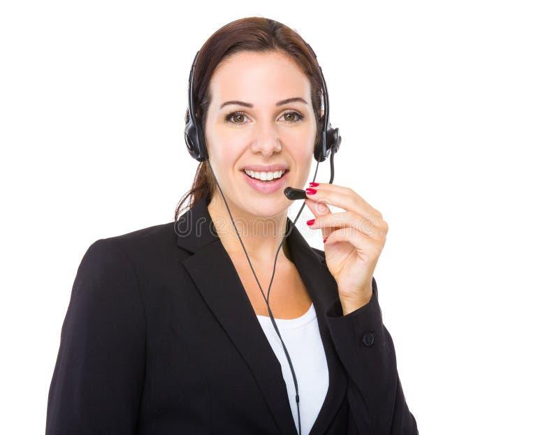 顾客服务操作员 免版税库存照片