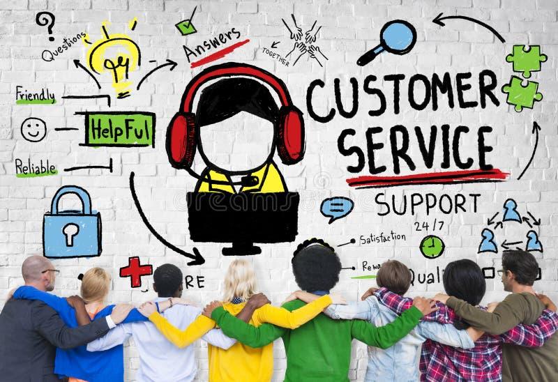 顾客服务支持协助服务帮助指南概念 图库摄影