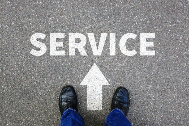 顾客服务支持帮助协助服务与busine联系 免版税库存照片