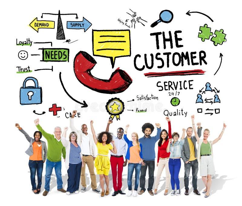 顾客服务目标市场支持协助概念 库存图片