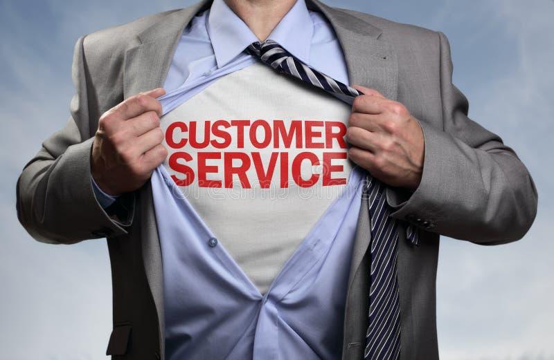 顾客服务超级英雄 库存图片