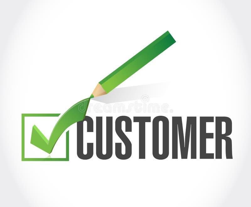 顾客校验标志名单例证 库存图片