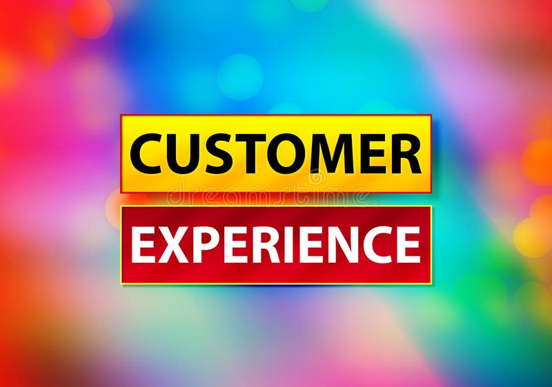 顾客经验摘要五颜六色的背景Bokeh设计例证 皇族释放例证