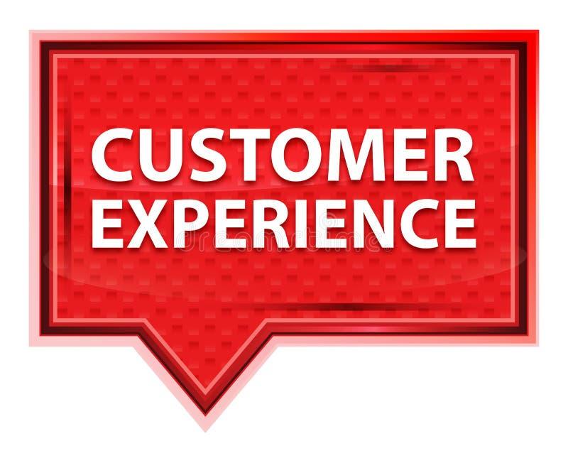 顾客经验有薄雾的淡粉红色横幅按钮 库存例证