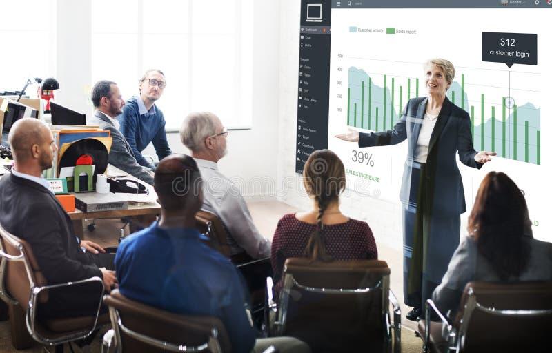顾客营销销售仪表板图表概念 免版税库存图片