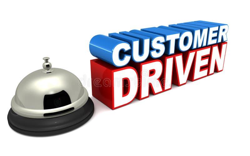 顾客被驾驶的事务 库存例证