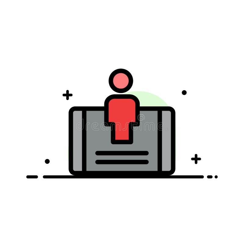 顾客,订婚,机动性,社会企业平的线填装了象传染媒介横幅模板 库存例证