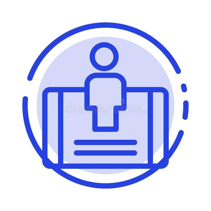 顾客,订婚,机动性,社会蓝色虚线线象 库存例证