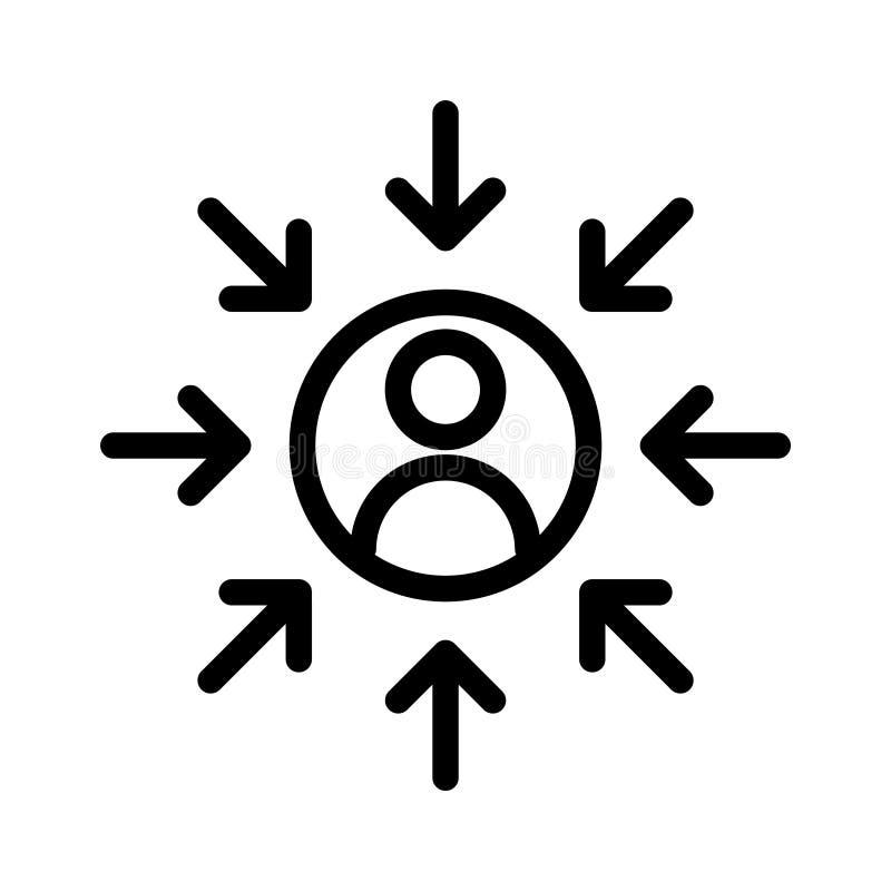 顾客centricity象,传染媒介例证 皇族释放例证