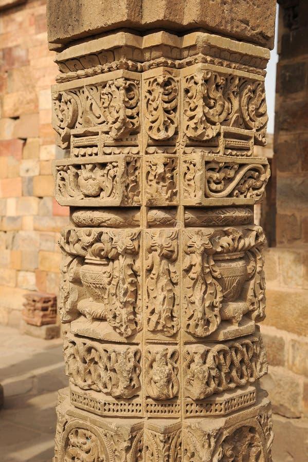 顾特卜塔印度古老废墟  图库摄影