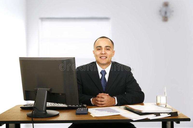 顾问财务等待 免版税图库摄影