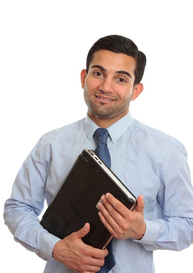 顾问销售人员微笑的技术人员 库存图片