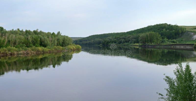 顿河在中央俄罗斯 免版税库存图片