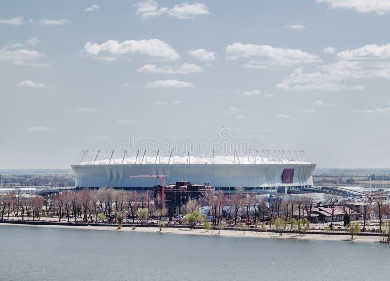 顿河畔罗斯托夫,俄罗斯- 2018年4月26日:橄榄球场罗斯托夫 库存图片