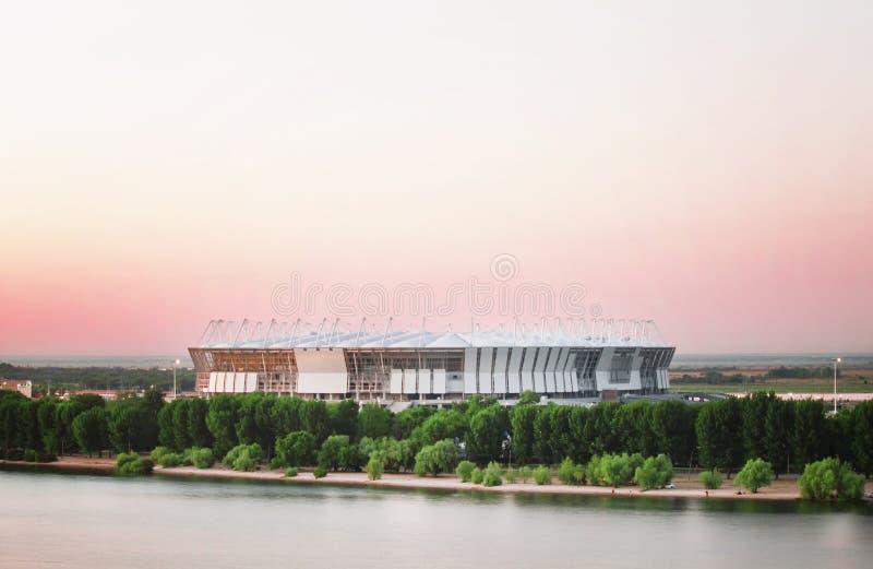 顿河畔罗斯托夫,俄罗斯- 2017年6月4日:橄榄球场罗斯托夫Ar 库存照片